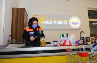 Halk Market'ten faydalanan aile sayısı 350'yi geçti.
