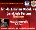 İstiklal Marşının Kabulü ve Çanakkale Destanı Konferansı