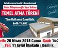 Naim Süleymanoğlu Spor Salonu - Temel Atma Töreni