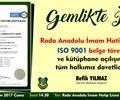 Roda Anadolu İmam Hatip Lisesi İSO 9001 belge töreni ve kütüphane açılışı