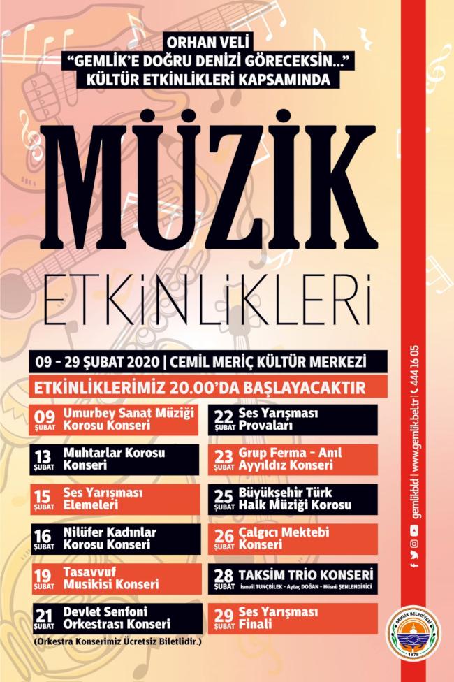 MÜZİK ETKİNLİKLERİ : Büyükşehir Türk Halk Müziği Korosu Konseri