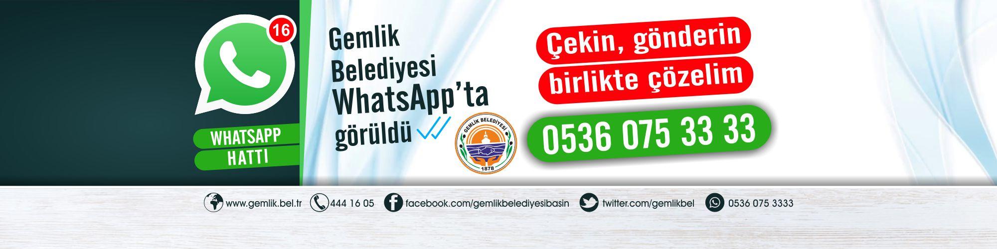 Gemlik Belediyesi Whatsapp'ta görüldü