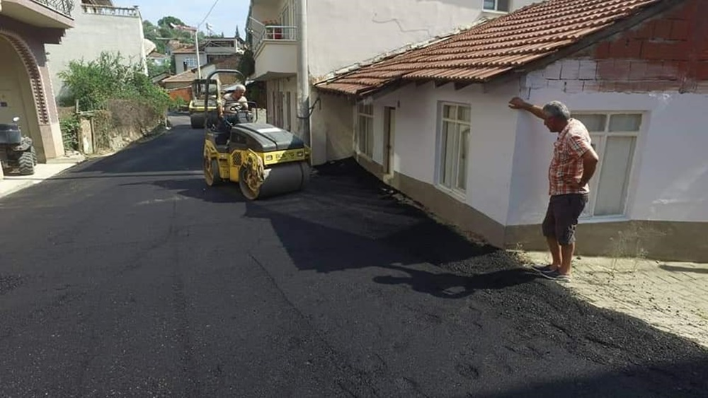 Karacaaliye asfalt, Hisar'a parke taşı