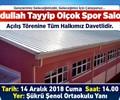 Abdullah Tayyip Olçok Spor Salonu Açılış Töreni