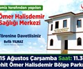 Şehit Ömer Halisdemir Aile Sağlığı Merkezi Açılış Töreni